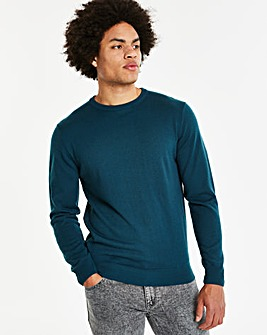 Capsule Dark Teal Crew Neck Jumper R