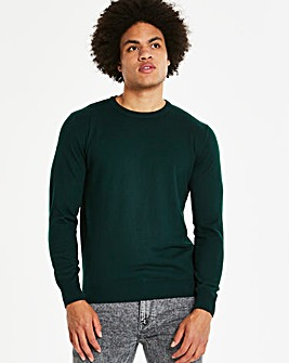 Capsule Forest Green Crew Neck Jumper R