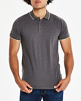 Capsule Charc Stretch Tipped Polo R
