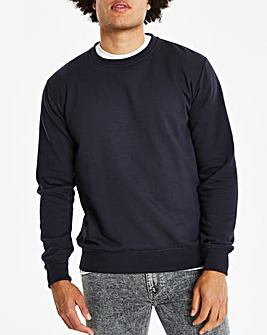 Navy Crew Neck Sweatshirt Long
