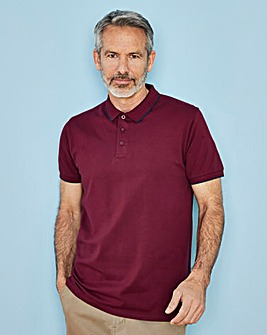 Capsule Berry Stretch Tipped Polo R
