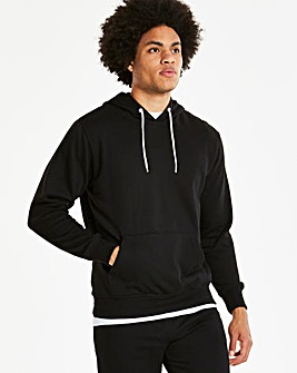 Black Over Head Hoody Long