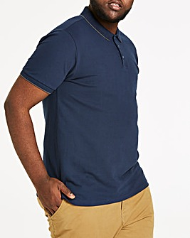 Navy Stretch Tipped Polo
