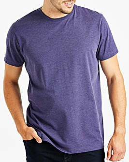 Capsule Purple Marl Crew Neck T-shirt R