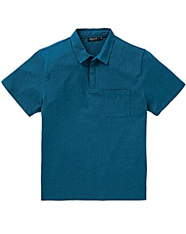Capsule Dark Teal Stretch Jersey Polo L