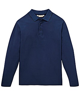 Capsule Navy L/S Tipped Polo L