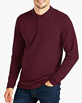 Capsule Burgundy L/S Tipped Polo L