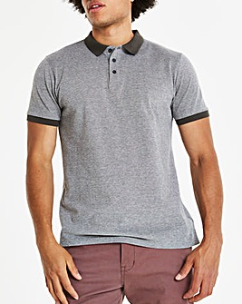 Capsule Charcoal Birds Eye Polo L