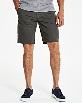Dark Grey Stretch Chino Shorts