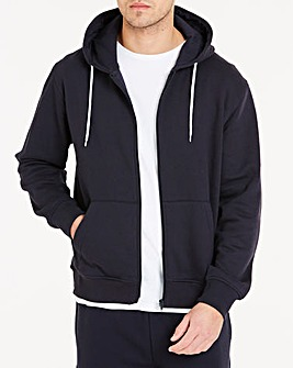 Navy Full Zip Hoody Regular