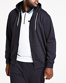 Navy Full Zip Hoody Long