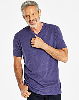 Capsule Purple Marl V-Neck T-shirt L