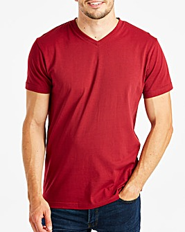 Capsule Berry V-Neck T-shirt L
