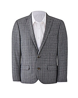 W&B LONDON Slim Fit Check Suit Jacket Regular