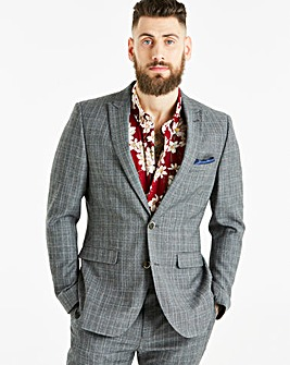 W&B LONDON Slim Fit Check Suit Jacket R