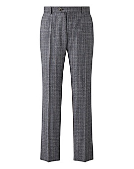 W&B LONDON Slim Fit Check Suit Trousers 31 inch