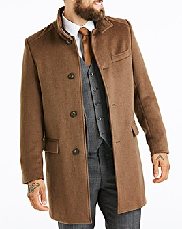 W&B London Camel Stand Up Collar Coat