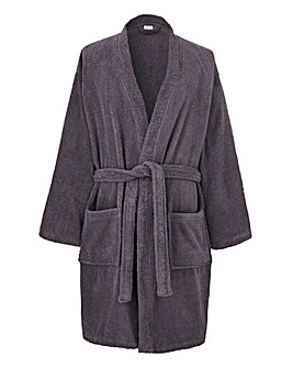 Capsule Charcoal Towelling Dressing Gown
