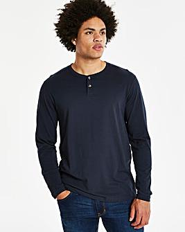 Navy Grandad Long Sleeve T-shirt