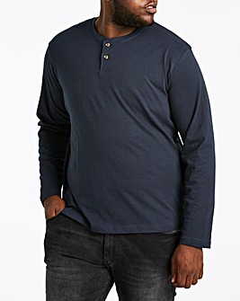 Navy Grandad Long Sleeve T-shirt