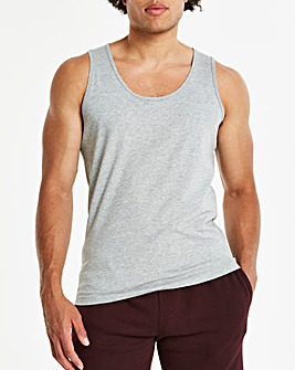Grey Marl Basic Vest Long