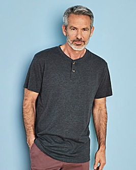 Charcoal Grandad T-shirt Long