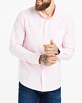 Baby Pink Long Sleeve Oxford Shirt