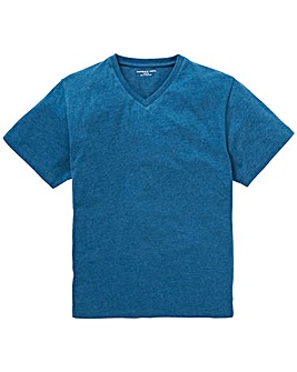 Capsule Dark Teal V-Neck T-shirt L