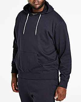 Navy Over Head Hoody Long