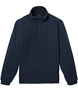 Capsule Navy Zip Neck Fleece R