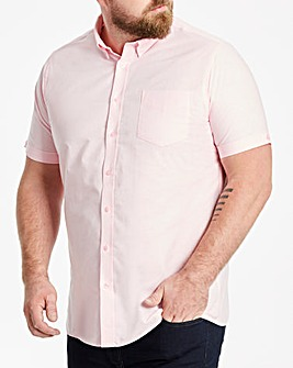 Baby Pink Short Sleeve Oxford Shirt Regular