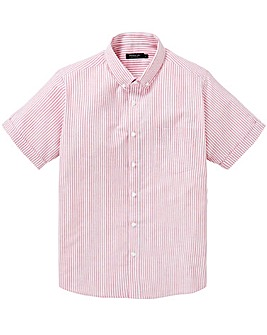 Capsule Pink Stripe S/S Oxford Shirt L