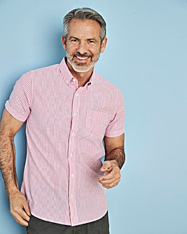 Capsule Pink Stripe S/S Oxford Shirt L