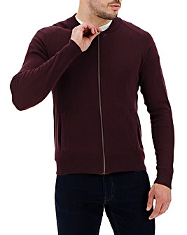 Wine Cotton Bomber