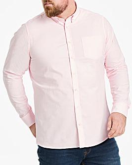 Baby Pink Long Sleeve Oxford Shirt Long