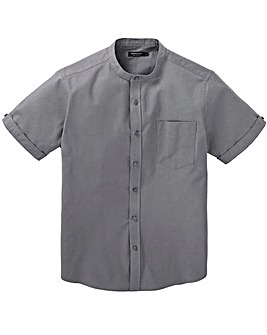 Capsule Charcoal Grandad Oxford Shirt R