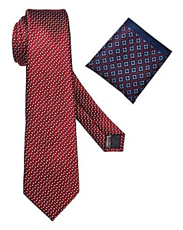 Capsule Burgundy Tie & Pocket Square
