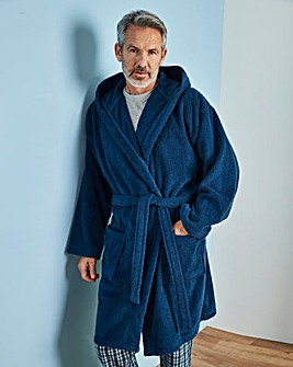 Indigo Hooded Dressing Gown