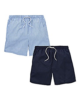 Printed Pack of 2 Woven Shorts