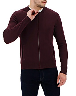 Wine Cotton Bomber Long