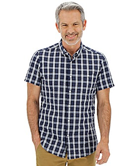 Short Sleeve Seersucker Check Shirt