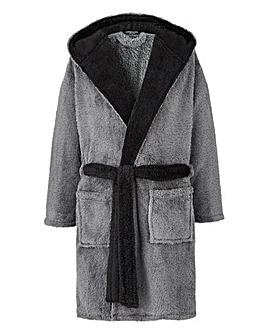 Capsule Grey Fleece Dressing Gown