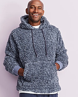 Capsule Navy Borg Fleece Hooded Top