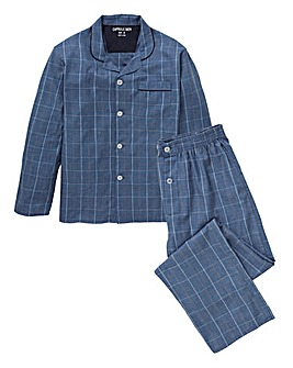 Blue Check Woven Pyjama Set