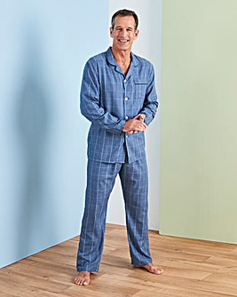 Blue Check Woven PJ Set