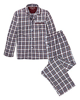 Wine Check Woven Pyjama Set