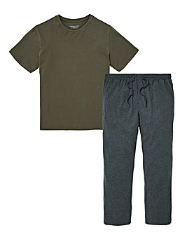 Capsule Khaki/Grey Pyjama Set