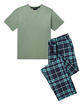 Green Check Long PJ Set