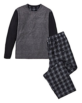 Capsule Navy Fleece PJ Set