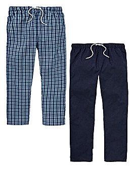 Capsule Pack of 2 Woven Loungepants
